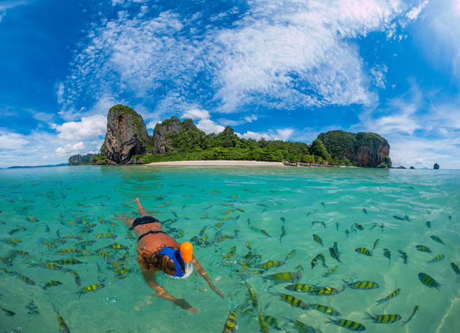 Poda Beach in Krabi Thailand.